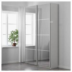 Armoire Peu Profonde : pax armoire penderie blanc auli miroir 150 x 44 x 236 cm ikea ~ Teatrodelosmanantiales.com Idées de Décoration