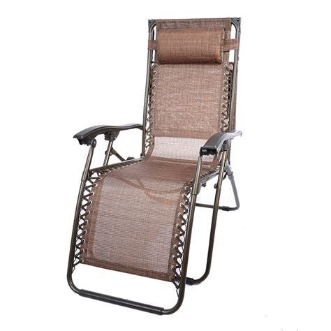 brown outdoor yard folding lounge patio chairs zero