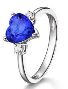 unique sapphire engagement rings unique 1 carat cut blue sapphire and trilogy engagement ring in white gold