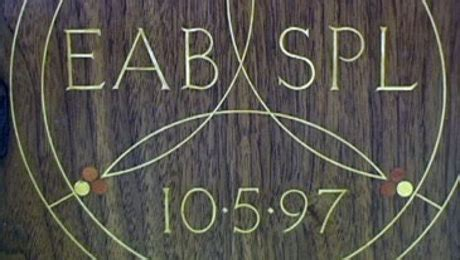 inlay wood letters