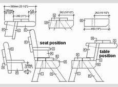picnic table and bench seat combination section plans