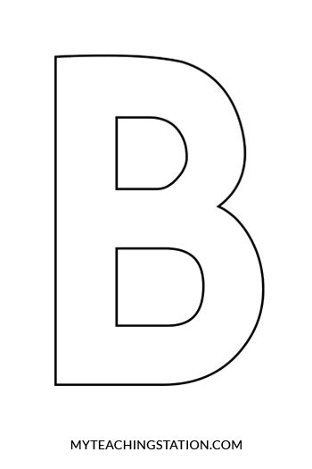 cut out letter b cardboard ea supplies letter b craft bee myteachingstation 12226