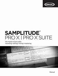 Magix Samplitude Handbuch Pro X Owners Manual 10 En