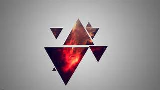Cosmos In The Triangles Wallpaper  Hipster Triangle Galaxy Wallpaper