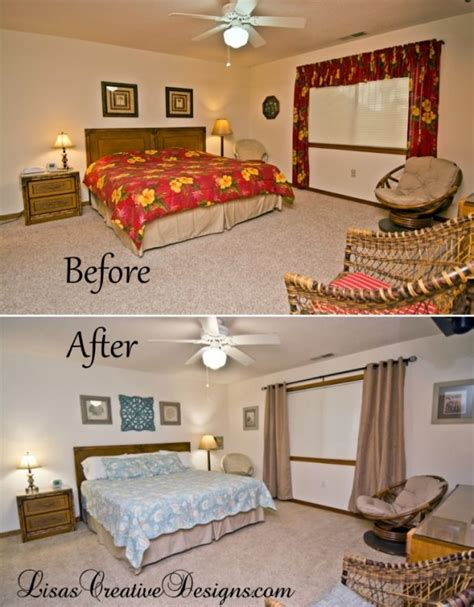 coastal vacation home master bedroom makeover
