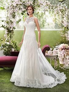 2016 designer wedding dresses by novia d39art high neck With wedding dress creator