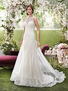 2016 designer wedding dresses by novia d39art high neck With designer wedding dresses online