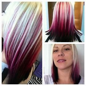 red hair with blonde streak hair | Hair ideas | Pinterest ...