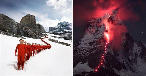 hundreds  climbers scaled  swiss alps  epic photoshoot