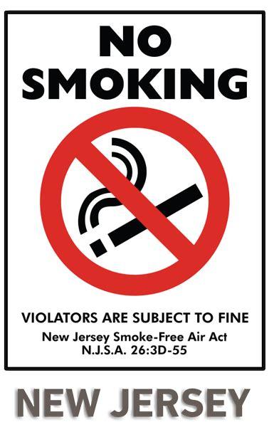 jersey  smoking sign   safetysigncom
