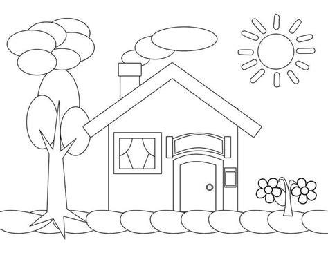 mewarnai gambar rumah coloring books book drawing