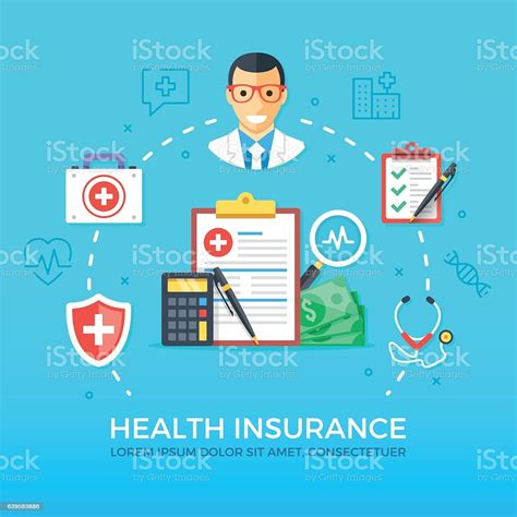 Download health images and photos. Health Insurance Healthcare Medicine Concepts Set Flat Design Vector Illustration Stock ...