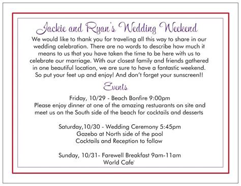 wedding welcome letter template wedding welcome letters sle diy wedding 31337