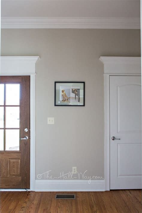 mud room with behr sculptor clay and silky white trim