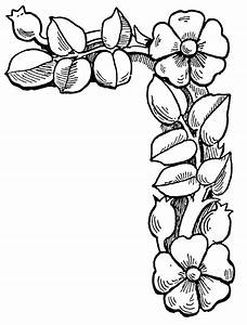 Flower Border Clip Art Black And White Pictures to Pin on ...