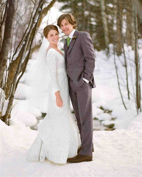 rustic winter destination wedding  colorado martha stewart weddings