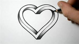 Tutorial - How to draw 3d heart step by step for beginners ...