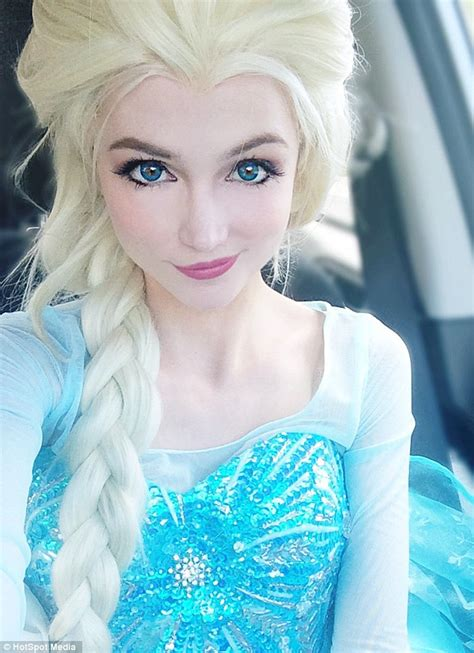Disney Fan Sarah Ingle Spends 14k On Dresses To Look Like Princess Elsa And Others Daily Mail