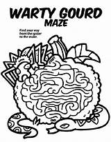 Gourd Coloring Maze Halloween Crayola Template Warty Templates sketch template