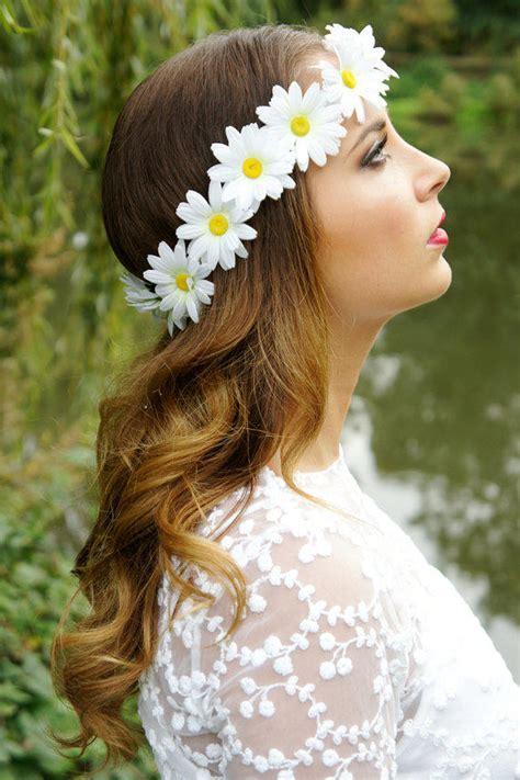 daisy chain flower crowngarland halo  fairyringsshop