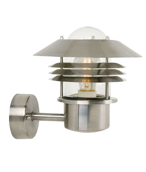 vaned low glare wall light with glass top