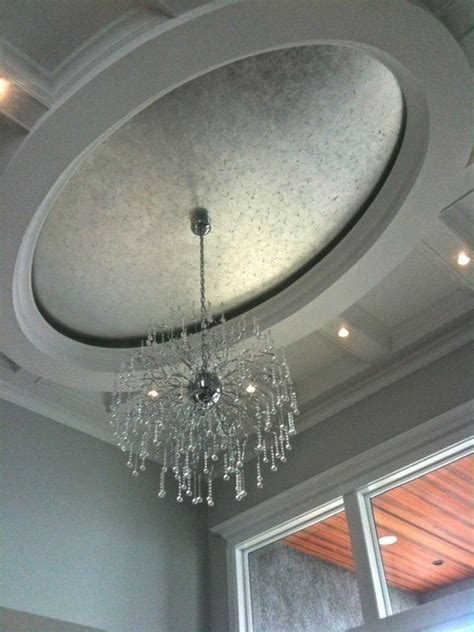 silver gilded oval ceiling contemporary vancouver