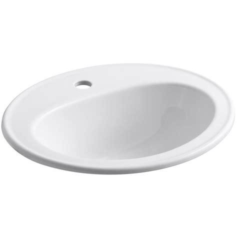 kohler kitchen sink shop kohler pennington white drop in oval bathroom sink