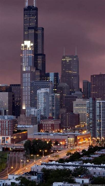 Chicago Night Wallpapers Street Iphone Background Backgrounds