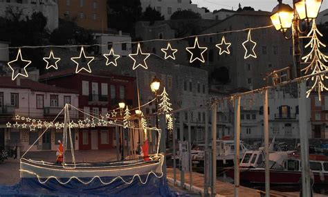 christmas decoration in greece on hydra inside hydra island greece hydra news info from hydra locals