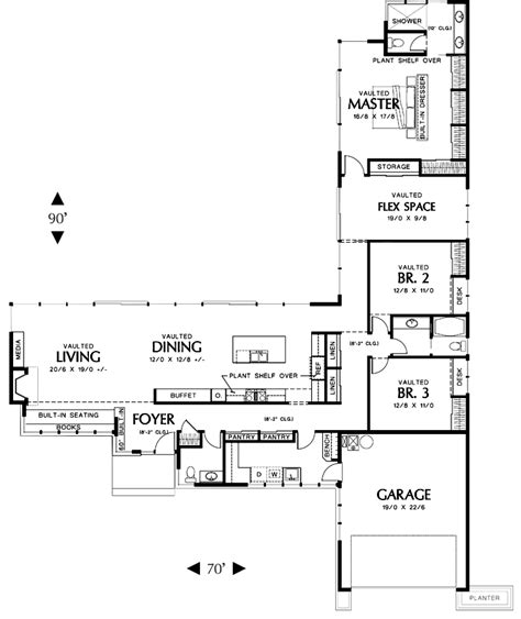 L Shaped Living Room Floor Plans by L Shaped House Plans With 3 Car Garage Dont Need A Three