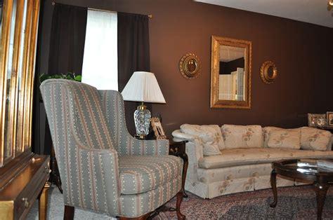 weafer design chocolate brown living room  gold