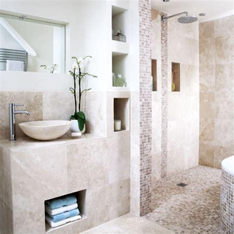 Neutral Tiled Bathroom  Bathrooms  Design Ideas Image
