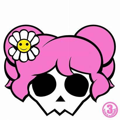 Skull Girly Crossbones Clipart Skulls Bones Cross
