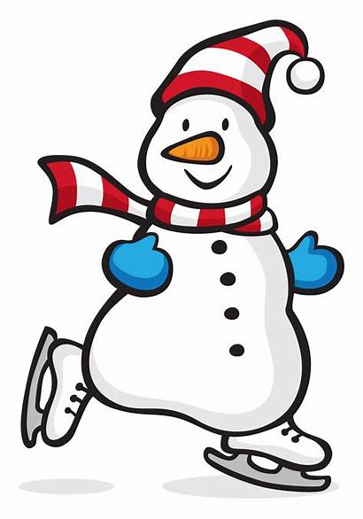 Snowman Ice Clipart Skating Winter Games Olympic
