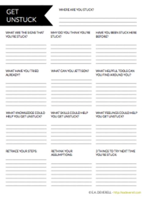 writer worksheet wednesday  unstuck creative writing