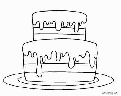 Cake Coloring Birthday Printable Sheets Candles Template