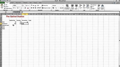 how to make a simple spreadsheet on excel 2010 business