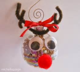 michelle paige blogs glass ball reindeer ornaments