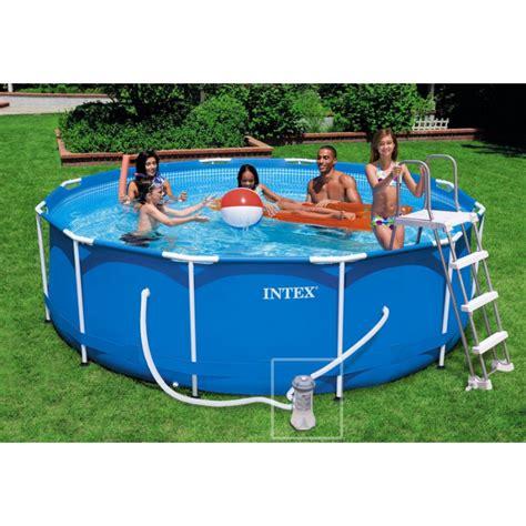 piscine intex tubulaire 3 66 kit piscine tubulaire intex metalframe 3 66 x 0 99 m