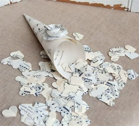 Diy Paper Confetti Hearts For Vintage Wedding 799597
