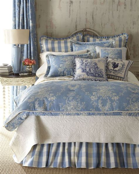 Blue & Ivory Country Cottage Toile Bedding Country