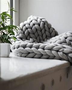 Plaid Grosse Maille Laine : un plaid en tricot g ant xxl my diy pinterest tricot laine et plaid tricot ~ Teatrodelosmanantiales.com Idées de Décoration