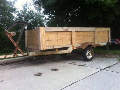 upcycled trailer    boat trailer