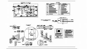 Office Plan And Electrical Fitting Detail 2d View Layout