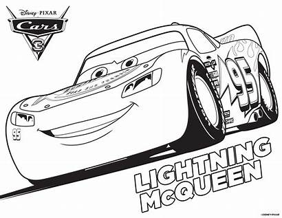 Coloring Cars Pages Mcqueen Lightning Storm Jackson