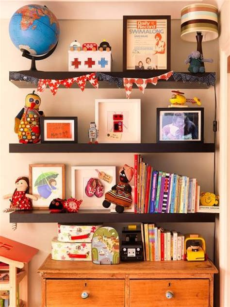 Shelves, Great Wall Decoration Kids Room Ideas Pinterest