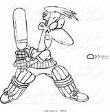 Cricket Cartoon Outline Playing Coloring Toonaday Template Worksheet Answer Key sketch template