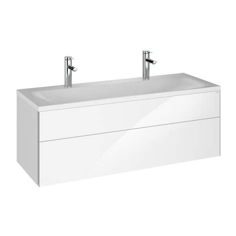 keuco royal reflex doppelwaschtisch mit waschtischunterschrank und led spiegelschrank front wei 223