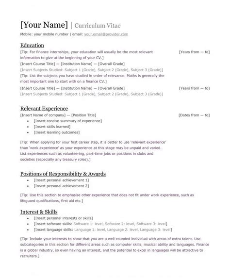 kenyan cv format  requirements tukocoke