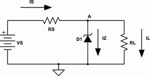 Circuit Analysis - Voltage Across Zener Diode